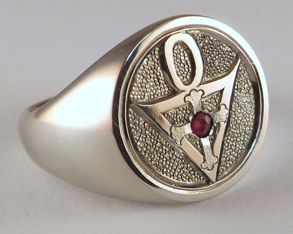 Michael drechsler jewelry ltd custom rosicrucian signet ring custom rosicrucian signet ring with ruby mozeypictures Image collections