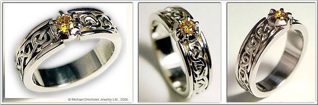 Celtic Love Knots Br Diamond Wedding Ring