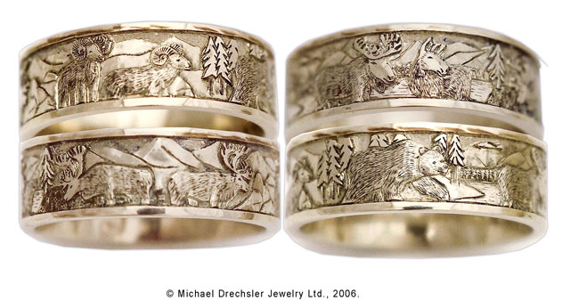 wildife wedding rings